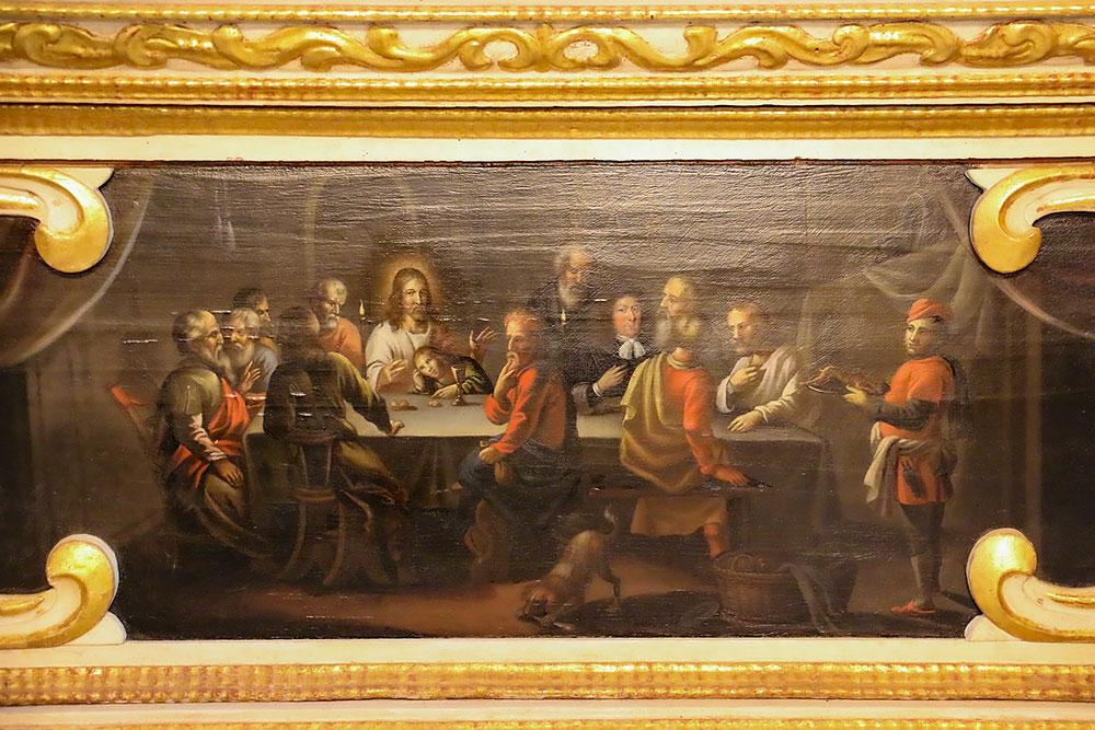 """Das """"Altarbild"""" mit dem falschen Kurfürsten, das in Wirklichkeit Hans Georg III. von Ribbeck zeigt"""