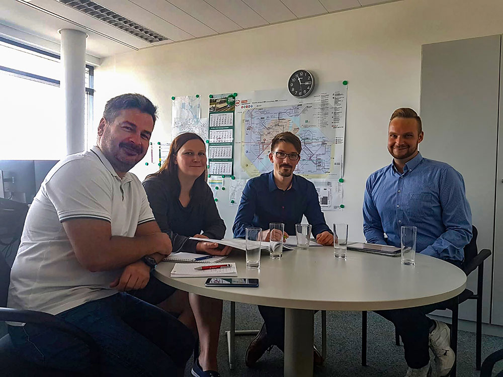 Im Gespräch: Stefan Matz (BI Fahrland), Tina Lange (Die Linke), Kevin Karge (ViP), Torsten Scholz (LHP, FB Verkehrsentwicklung),