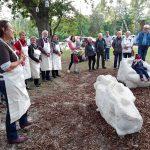 Neue Skulptur  in der Waldsiedlung