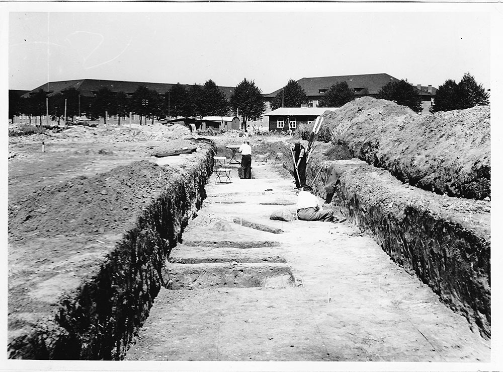 Ausgrabungen in Krampnitz 1938 unter Leitung von Dr. Friedrich Bestehorn