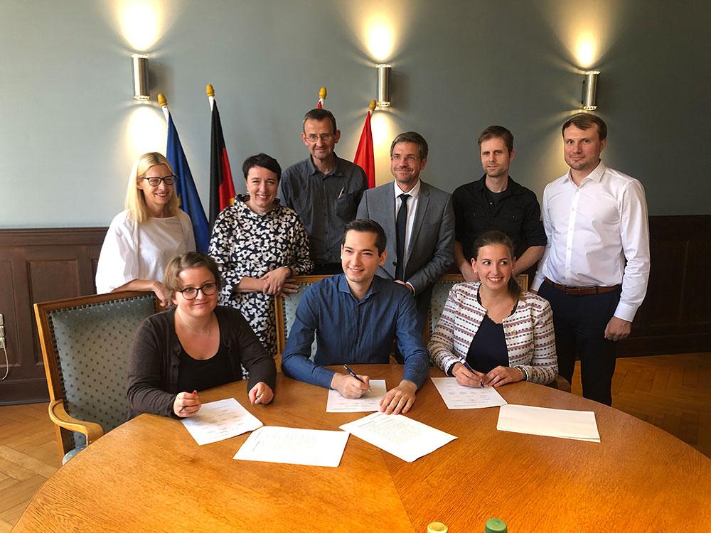 Unterzeichnung des Kooperationsvertrages am 13.9.2019.