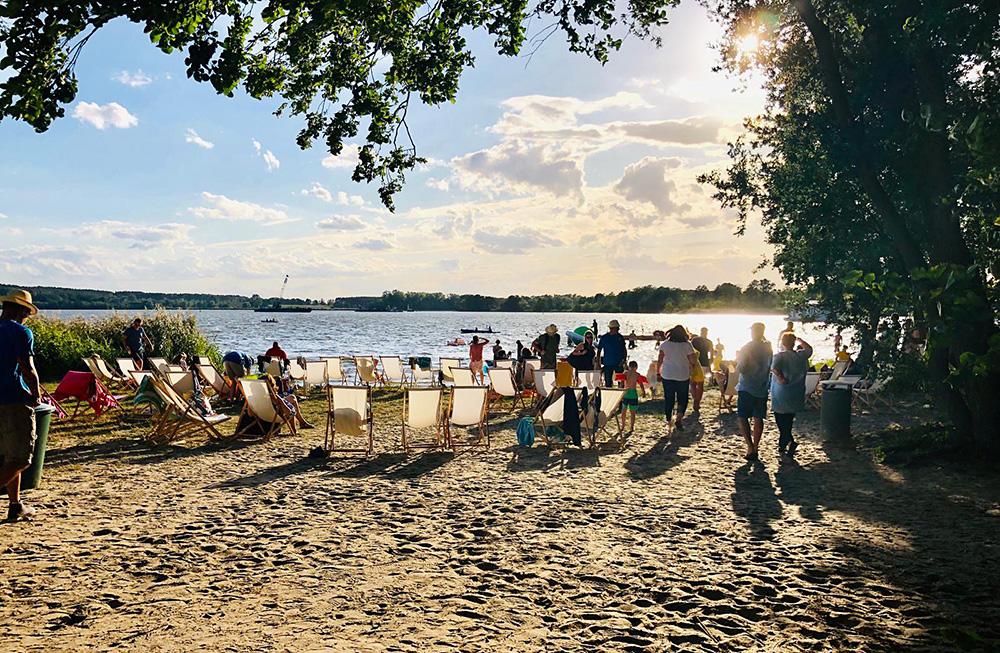 Geschlossene Veranstaltung am Marquardter Strand