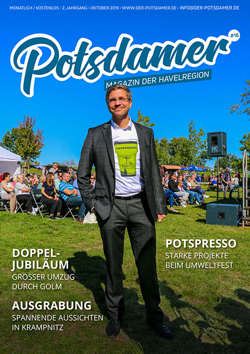 Oberbürgermeister Mike Schubert auf dem Titelblatt des POTSDAMERs