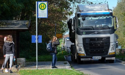 Schwerlastverkehr belastet Ortsdurchfahrten