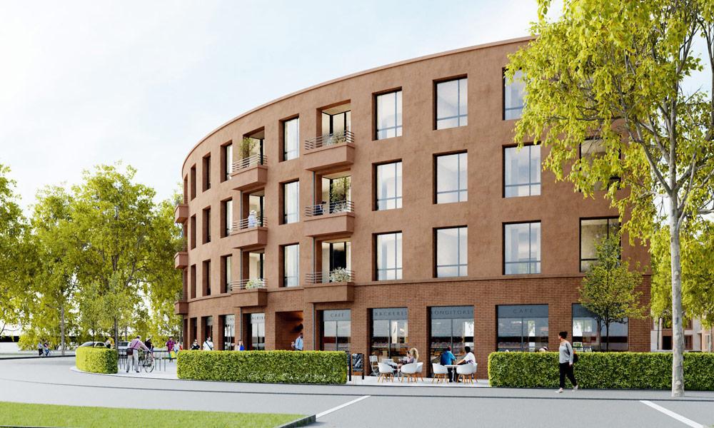 Ein weiterer Entwurf der Bauvorhaben auf dem Baufeld WA2 in der Roten Kaserne West.