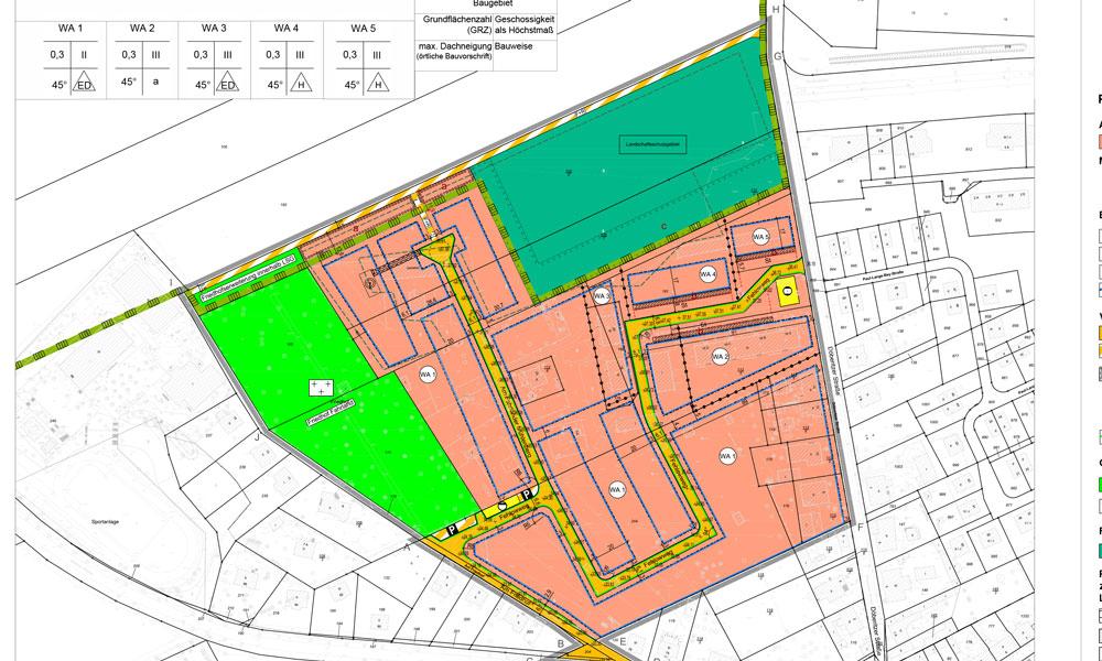 Bebauungsplanentwurf in Fahrland mit neuen Anliegerstraßen