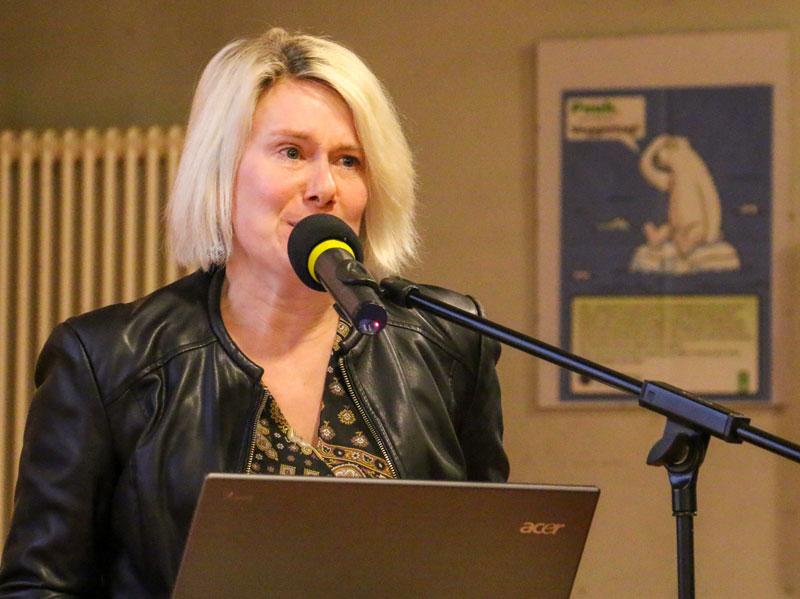 Kerstin Schulz vom Fachbereich Grün- und Verkehrsflächen