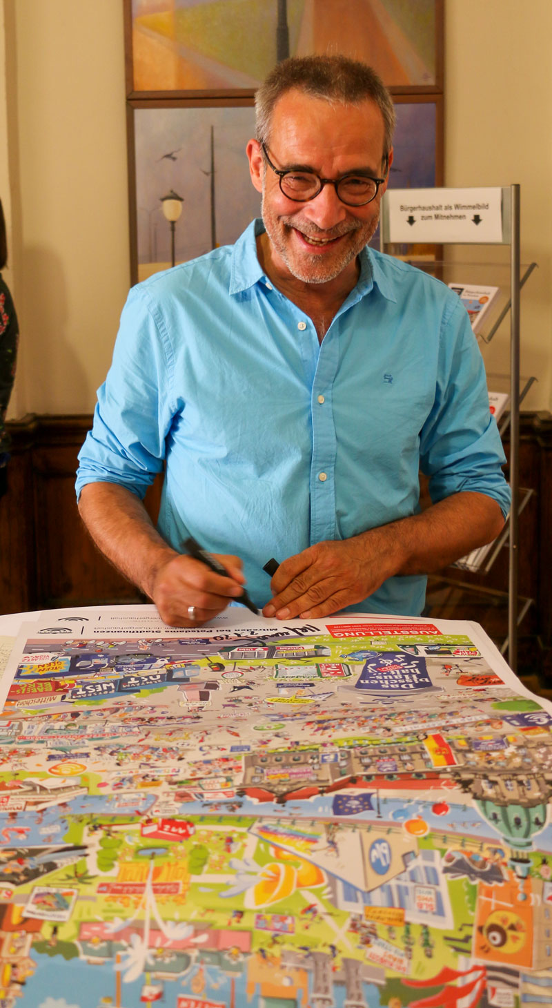 Jörg Hafemeister hat für den POTSDAMER ein paar Drucke signiert