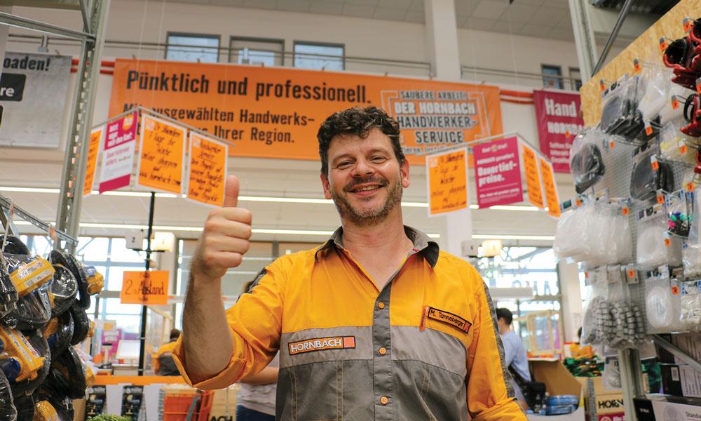 Mirko Tanneberger, Geschäftsleiter von HORNBACH in Marquardt.