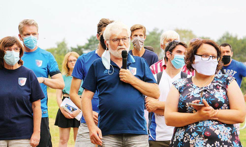 Der 1. Vorsitzende des Potsdamer Kickers e.V., Wolfgang Schaffernicht, betonte, wie wichtig der Bau der Sportflächen im Remisenpark ist