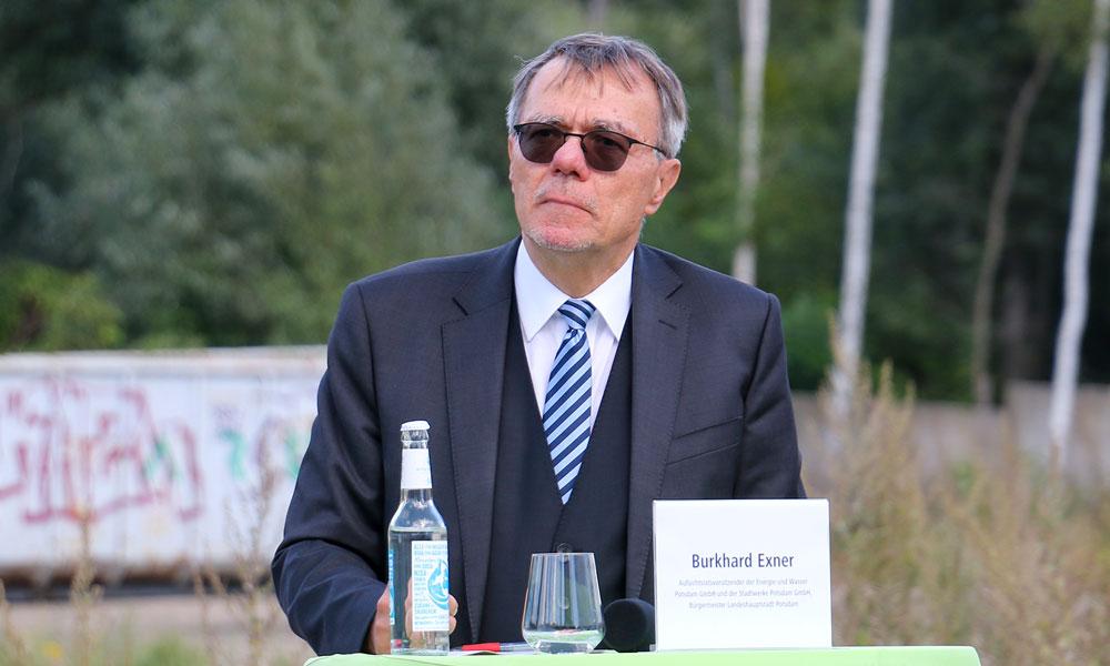 Burkhard Exner, der Finanzbeigeordnete der Landeshauptstadt Potsdam, ist verärgert über die Aussage des Landes und beurteilt die finanzielle Lage völlig anders.