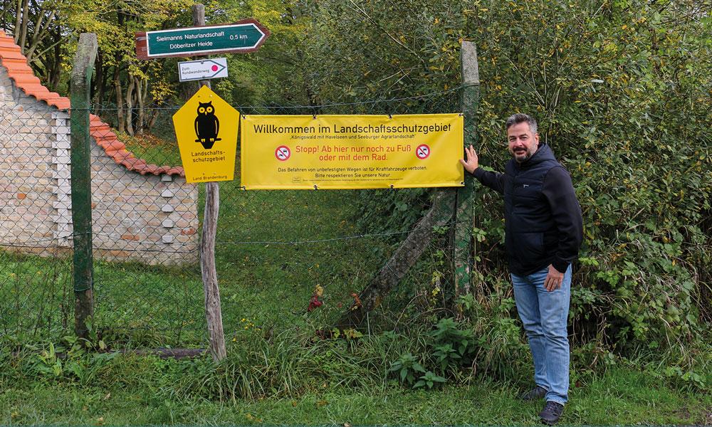 Der Ortsvorsteher von Fahrland, Stefn Matz, Stefan Matz, hat mit seiner Idee schon großen Erfolg.