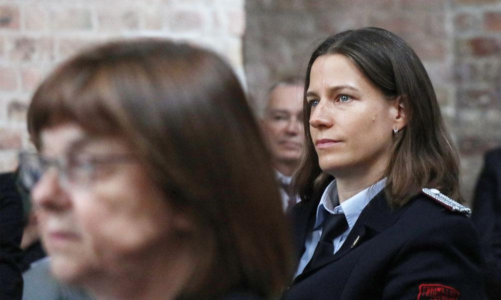 Marie Schumann bei der Verleihung des Verdienstordens des Landes Brandenburg am 10.10.2020
