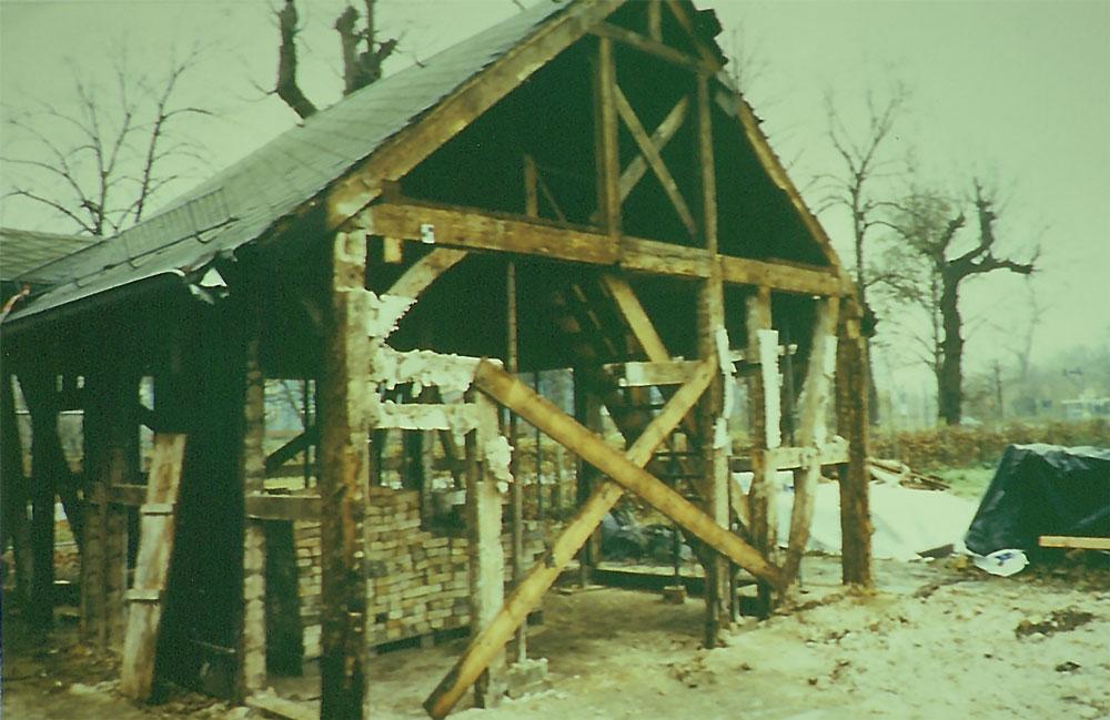 Haus Nr. 2 – Während der Restaurierung. Heute ist hier das Museum (um 2002)  Foto: Dr. Hermann Kremer