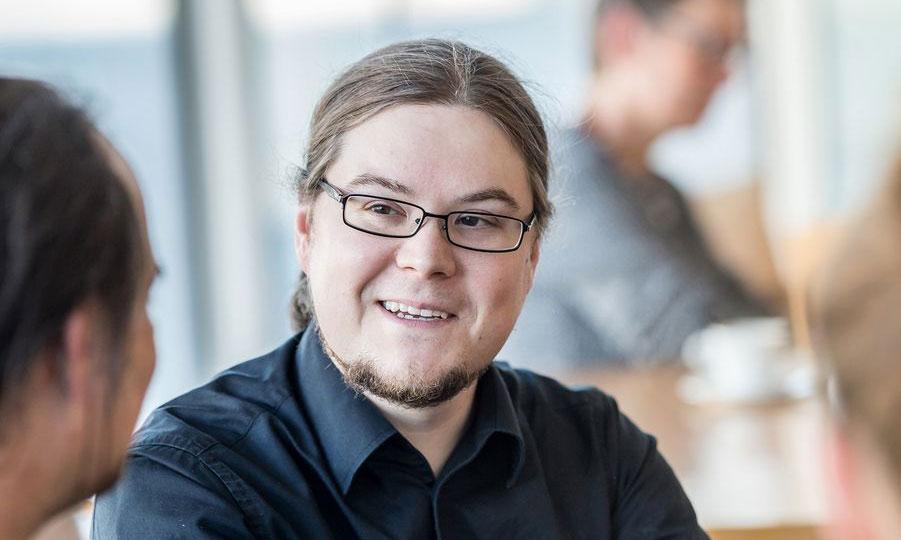 Der Bundestagskandidat der LINKEN, Norbert Müller, im Gespräch
