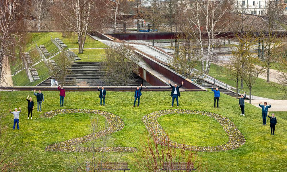 Mitarbeiter der ProPotsdam feiern 20. Geburtstag des Volkspark Potsdam
