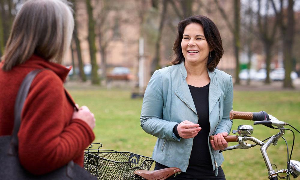 Annalena Baerbock ist die Kanzlerkandidatin der Bündnis 90 / Die Grünen im Potsdamer Wahlkreis 61