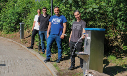 Wohnmobilstellplatz jetzt mit Wasser- und Abwasseranschluss