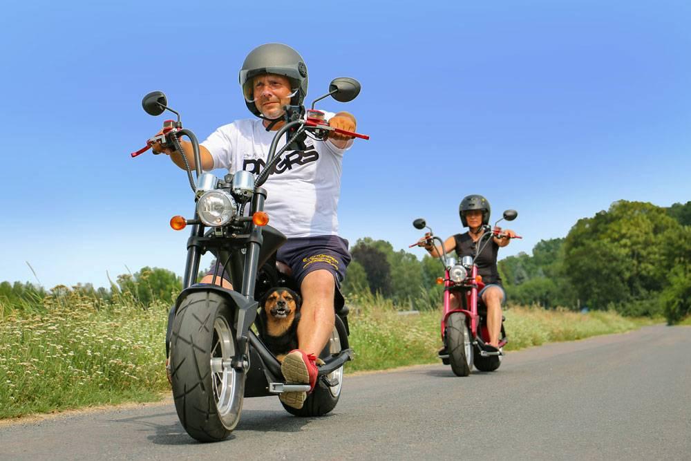 Besonderen Spaß macht die Fahrt mit dem E-Chopper zu zweit oder in der Gruppe