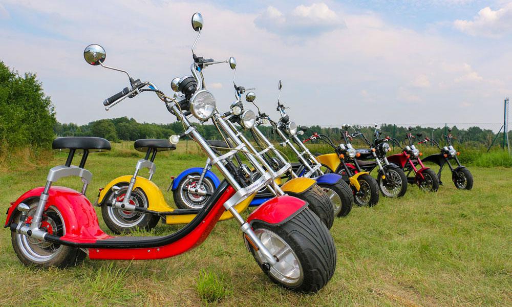 Die unterschiedlichen Modelle der E-Chopper bieten in der Stadt absolutes Fahrvergnügen