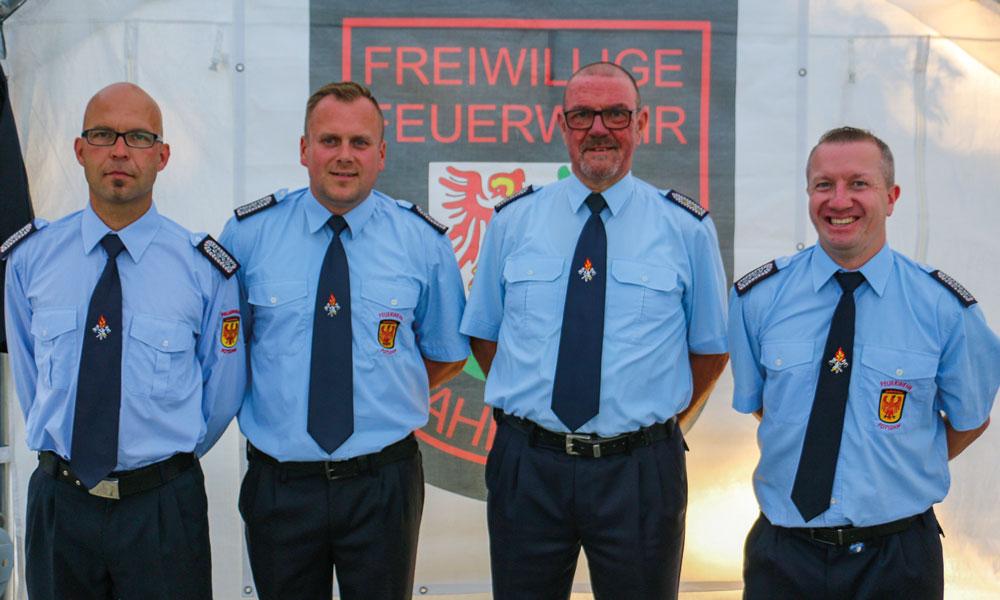 """Der """"Alte"""" und die """"Neuen"""": Andy Hertel, Sascha Lineman, Bernd Giese, Dennis Grasse (v.l.)"""