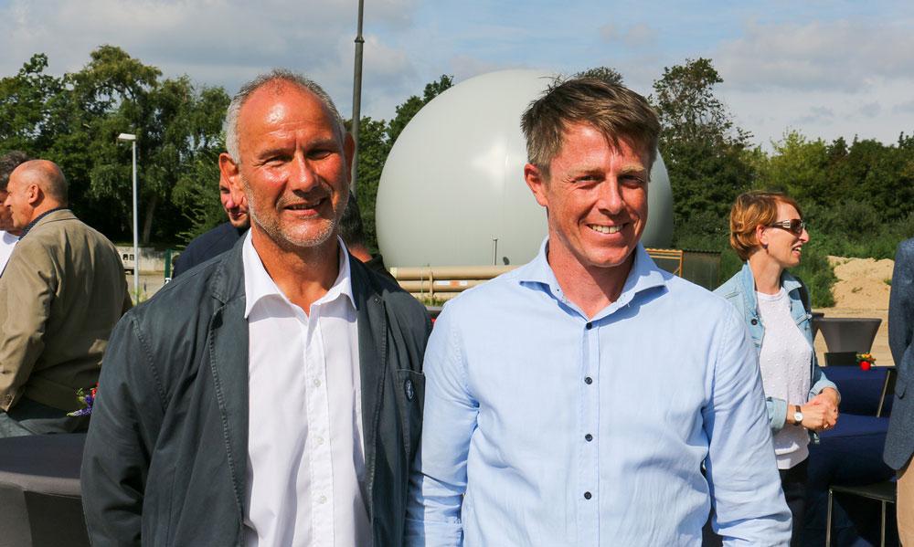 Andreas Dunst, Projektleiter der Kläranlage  u. Torsten Möller, Abteilungsleiter / Wasserwerke Kläranlagen (v.l., beide EWP) sind für das Projekt verantwortlich.